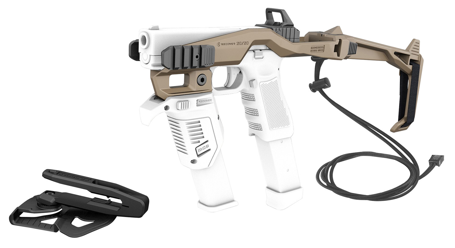 Recover Tactical 20/20HT Tactical 20/20 Stabilizer Kit  Synthetic Tan with G7 Holster w/Pistol Adapter