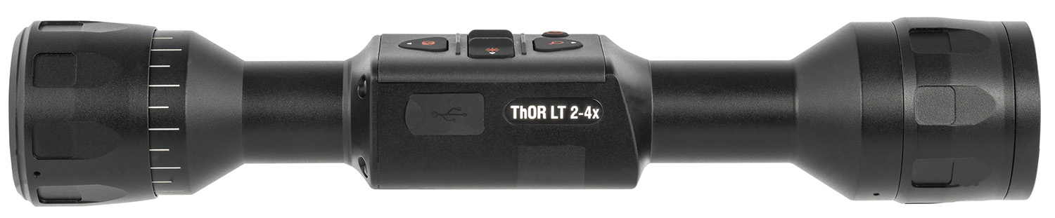 ATN TIWSTLT319X THOR LT 320 Thermal Rifle Scope 2-4x 11.60x8.70 Degrees FOV Black