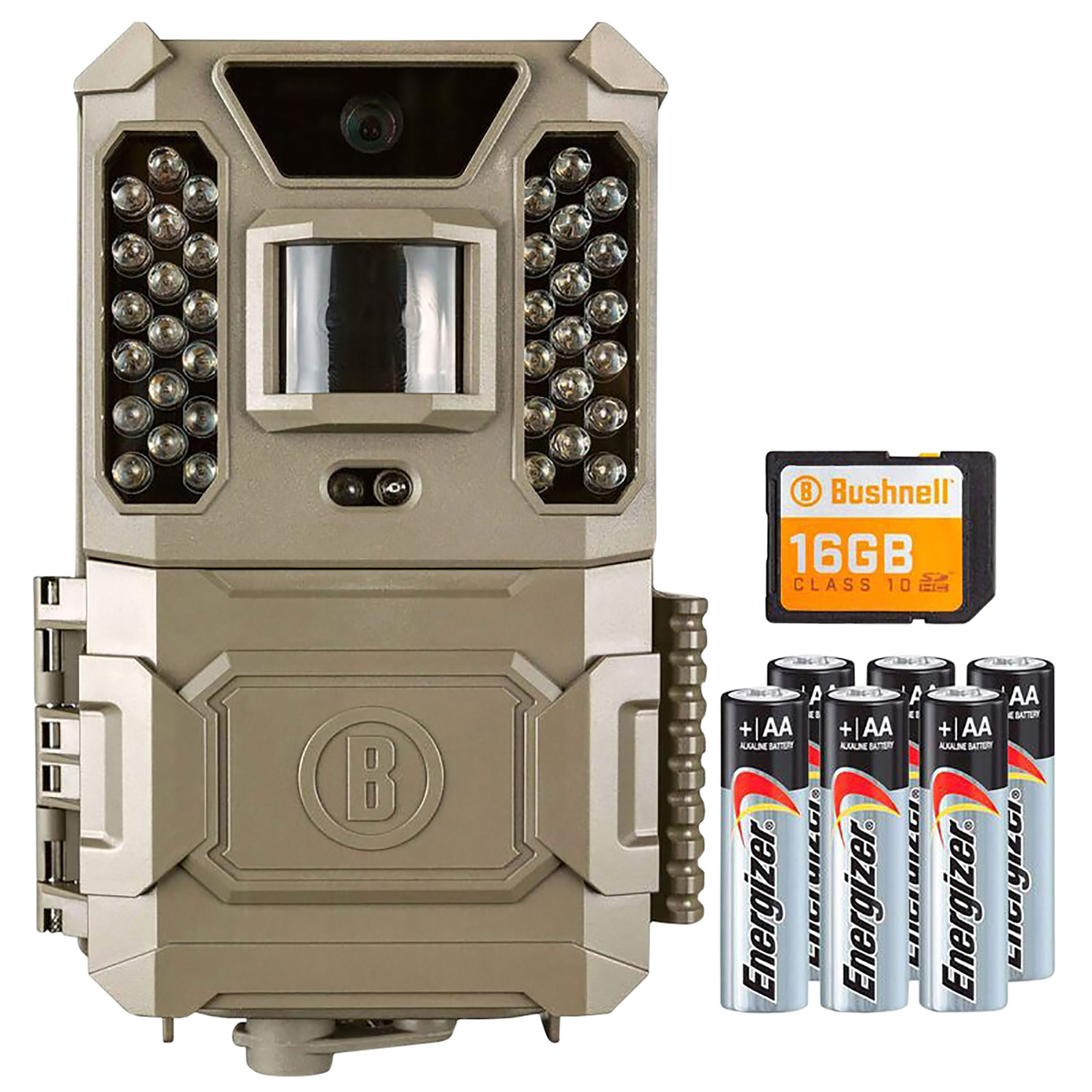Primos 119932CB Prime Combo 24 MP Low Glow 36 LED Brown Adjustable AA Batteries and 8GB SD Card Included.