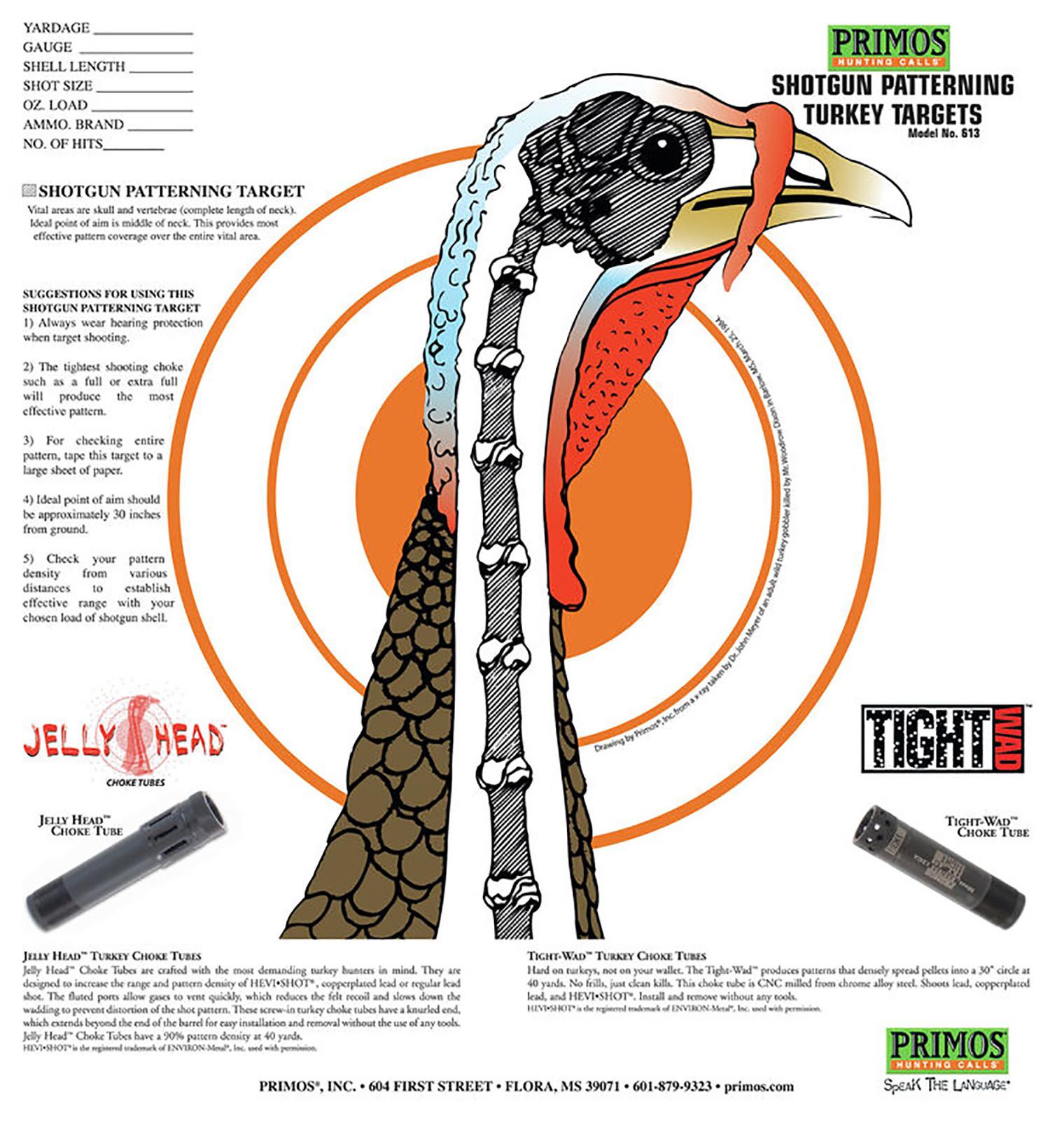 Primos Turkey Pattern Target  <br>  12 pk.