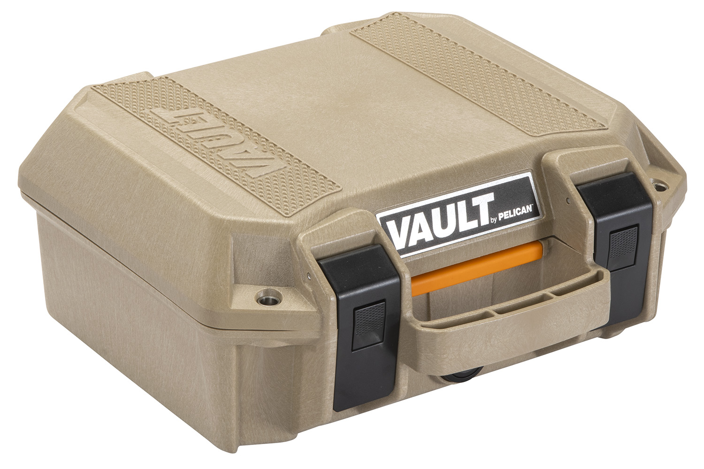 Pelican VCV100 Vault Small Case Pistol Tan Polymer 12.28