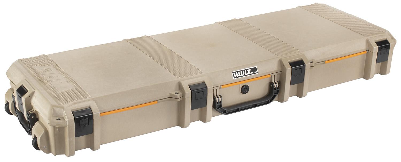 Pelican VCV800 Vault Double Rifle Case Tan Polymer 2 Rifles 56.11