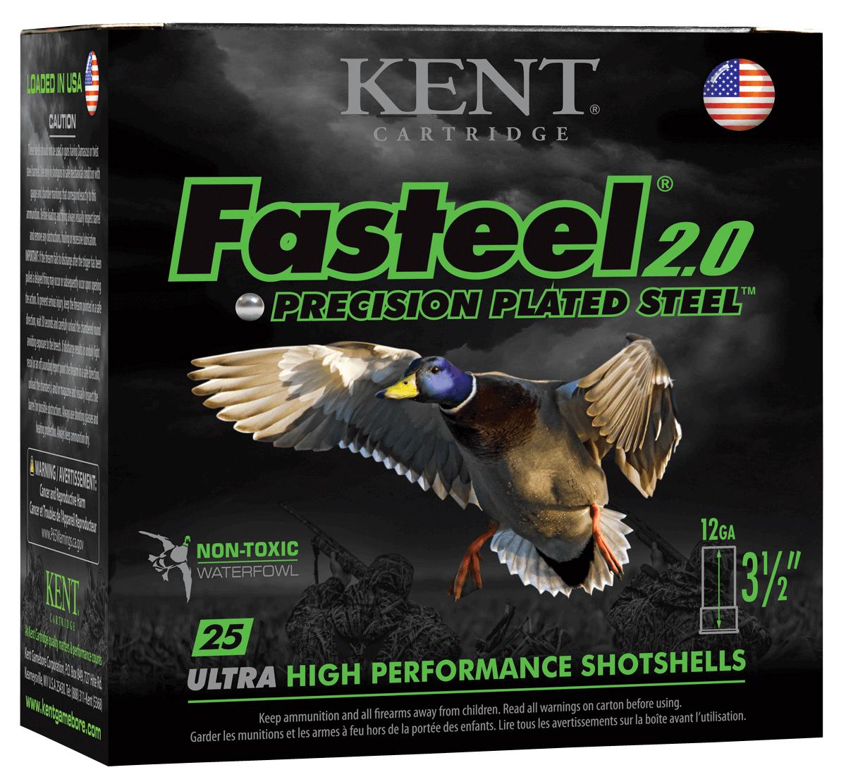 Kent Cartridge K1235FS401 Fasteel 2.0  12 Gauge 3.50