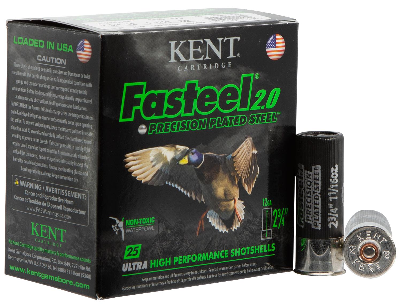 Kent Cartridge K122FS363 Fasteel 2.0  12 Gauge 2.75