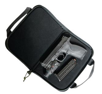 G*Outdoors GPS-1485PCMF Memory Foam Pistol Case  Large Black 1 Handgun