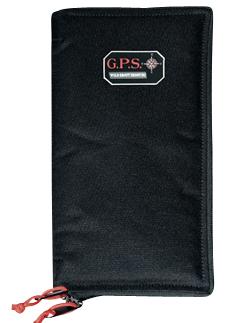 G*Outdoors GPS-865PS Pistol Sleeve  with Locking Zipper 1 Handgun Black Medium