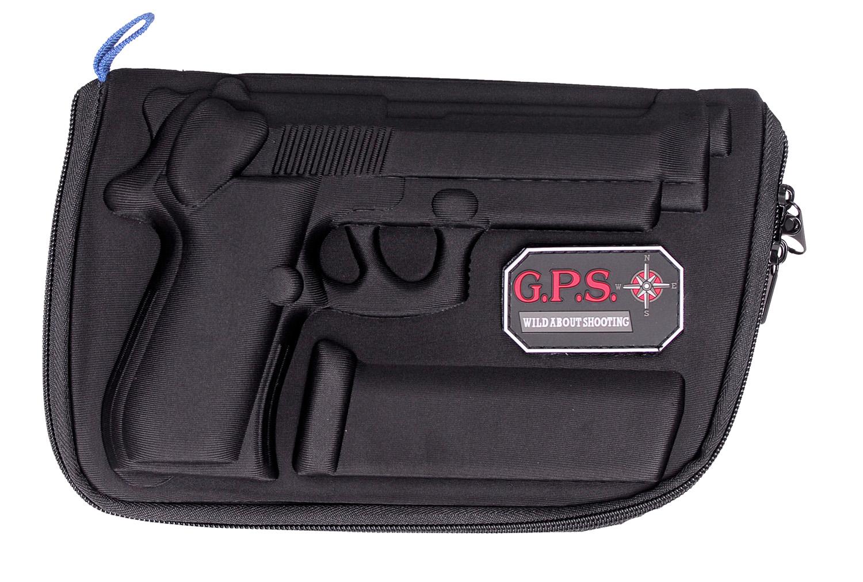 G*Outdoors GPS-909PC Molded Pistol Case  Black 1 Handgun for Beretta 92,96/Taurus PT92