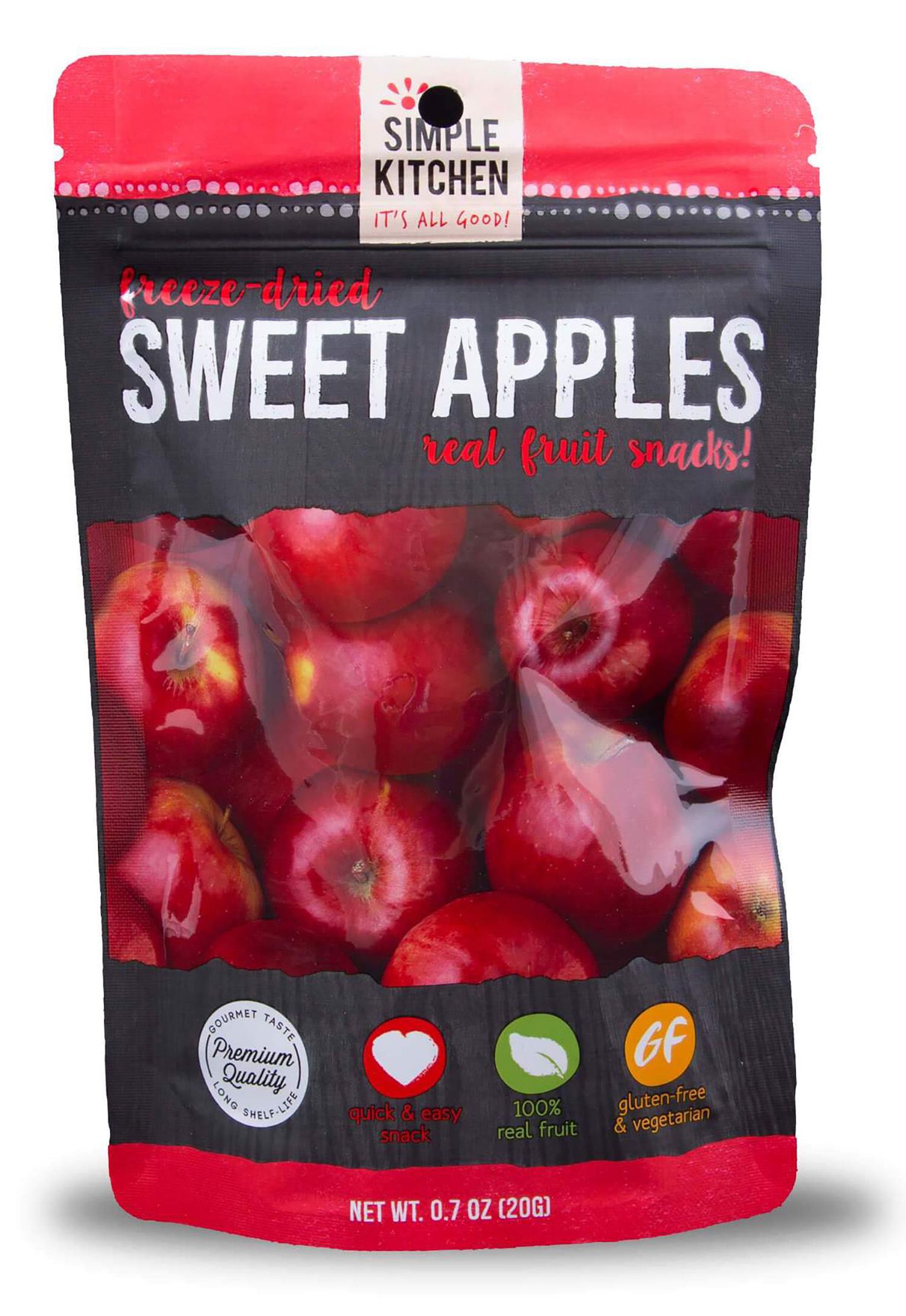 Wise Foods SK05-910 Simple Kitchen Freeze Dried Fruit Freeze Dried Snacks 6 Per Case 4 Servings Per Pouch Outdoor Camping Pouches