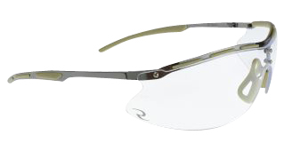 Radians CSB101 Ballistic Rated Shooting Glasses  <br>  Metal Amber