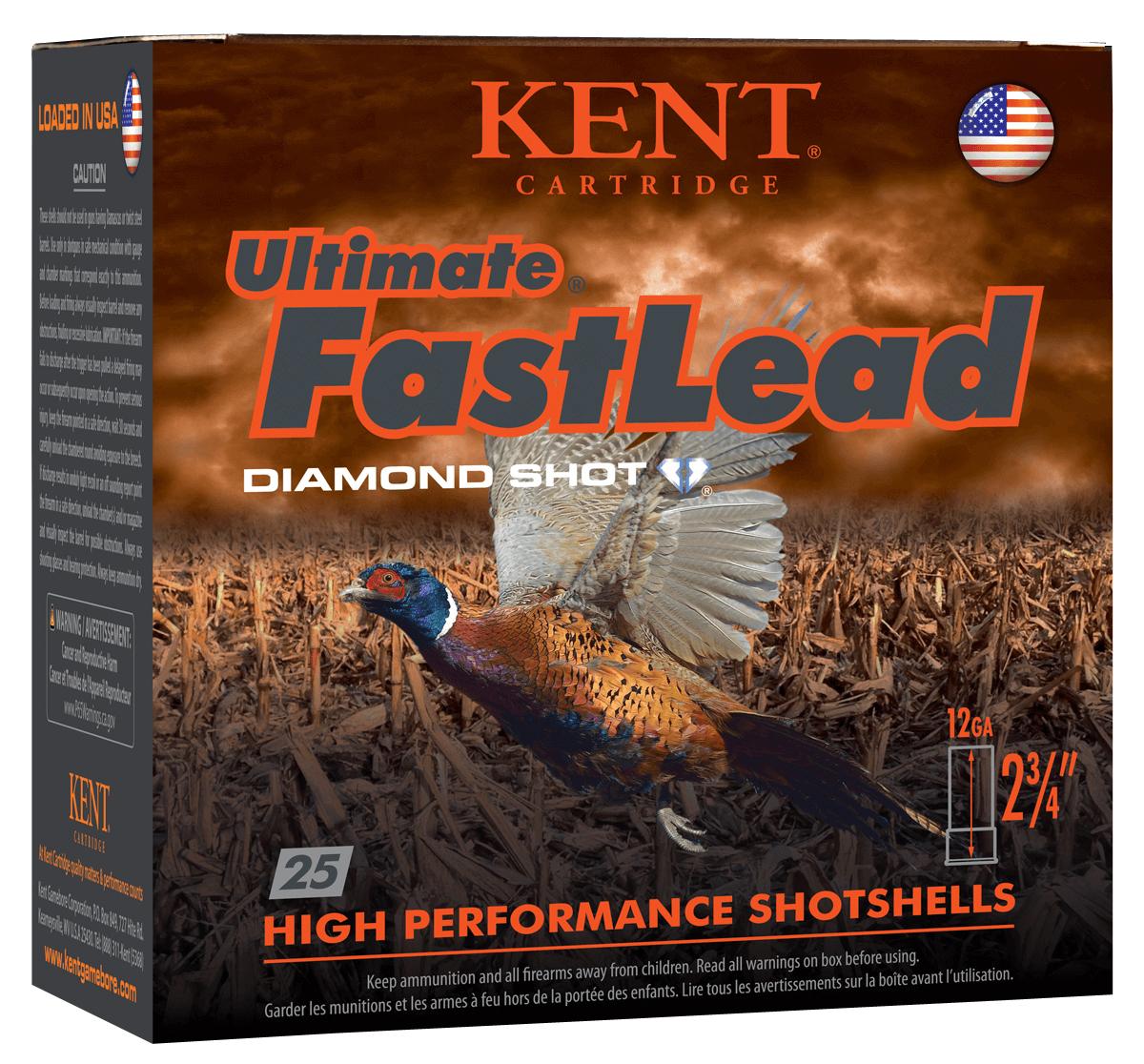 Kent Cartridge K122UFL424 Ultimate Fast Lead  12 Gauge 2.75