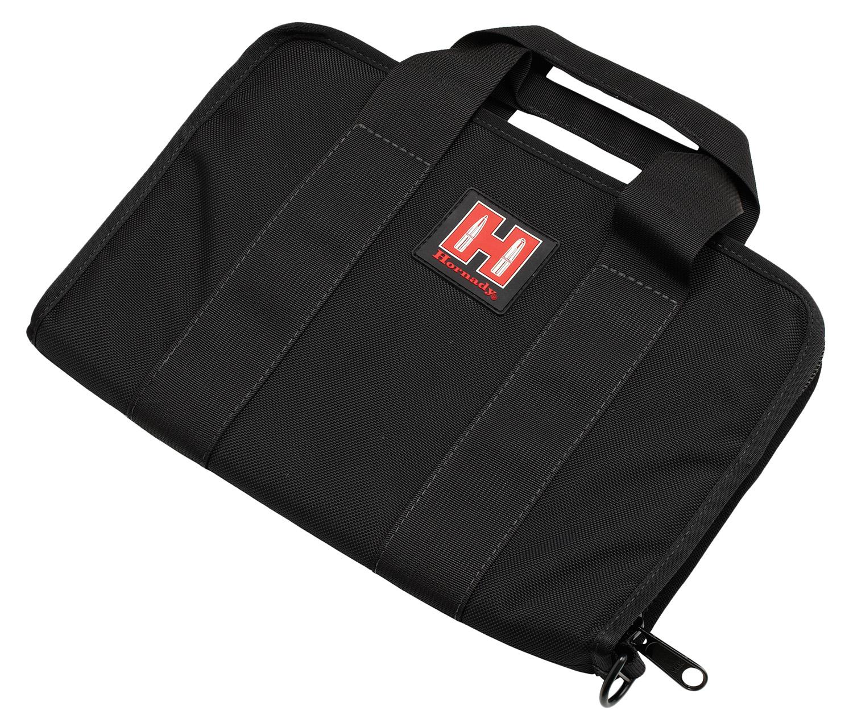 Hornady 99117 Pistol Case  Black Cordura Case & Integrated Red Logo