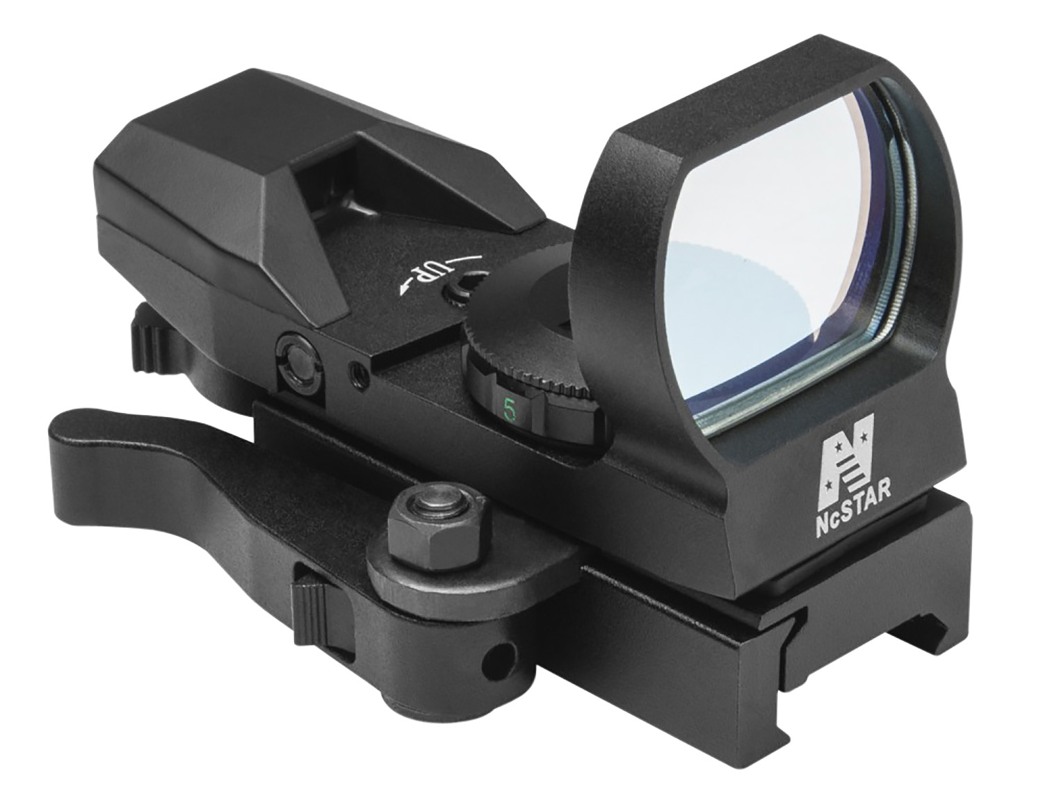 NCStar  Red Dot  1x 24x34mm Illuminated Red 4 Pattern Black Quick Release Mount
