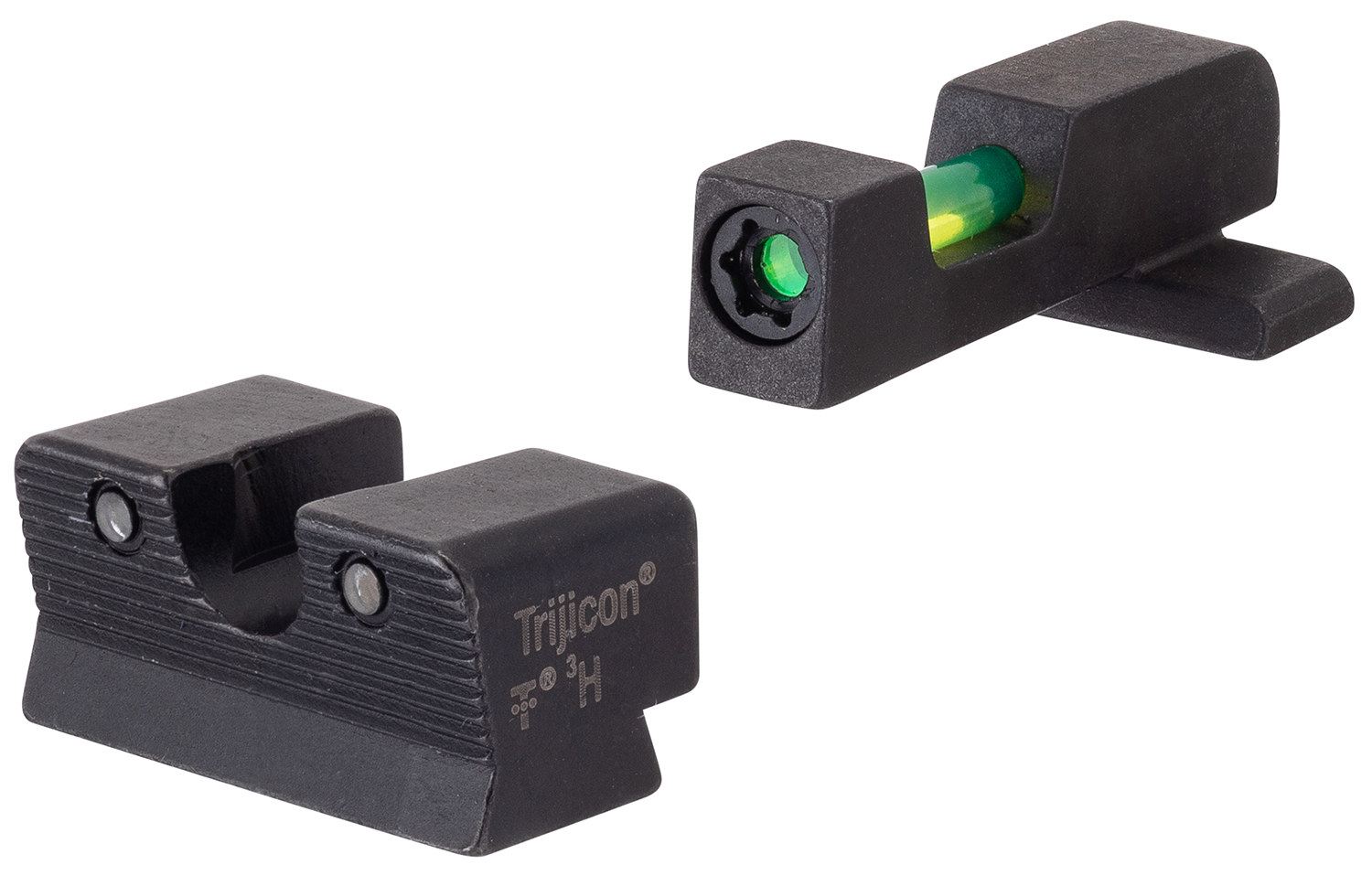 Trijicon 601116 DI Night Sight Set Interchangeable Tritium/Fiber Optic Green with Black Outline Front, Tritium Green with Black Outline Rear Black Frame for Springfield XD, XD Mod.2, XD-M
