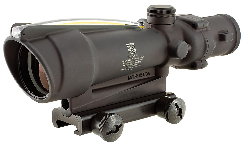 Trijicon 100143 ACOG  Matte Black 3.5x 35mm Illuminated Amber Chevron .308/7.62 BDC Reticle