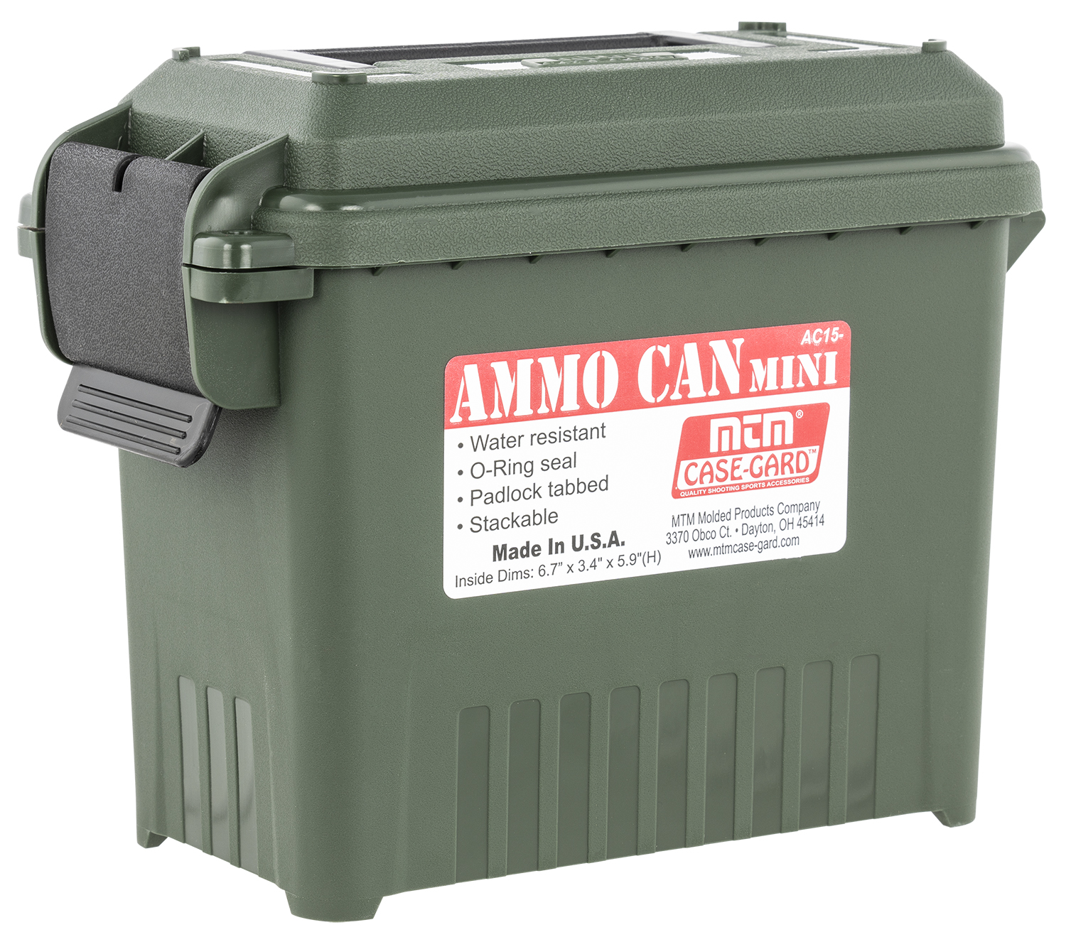 MTM AC1511 Ammo Can  Multi-Caliber Forest Green Plastic