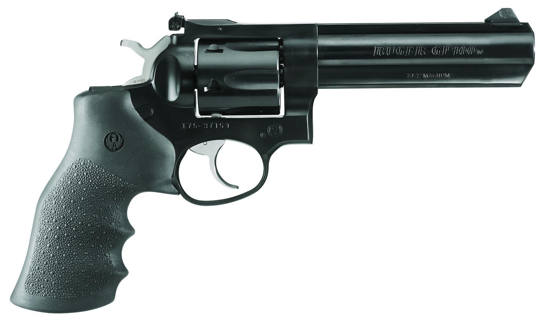 RUG 1756 GP100 357 5IN FULL LUG AS BL