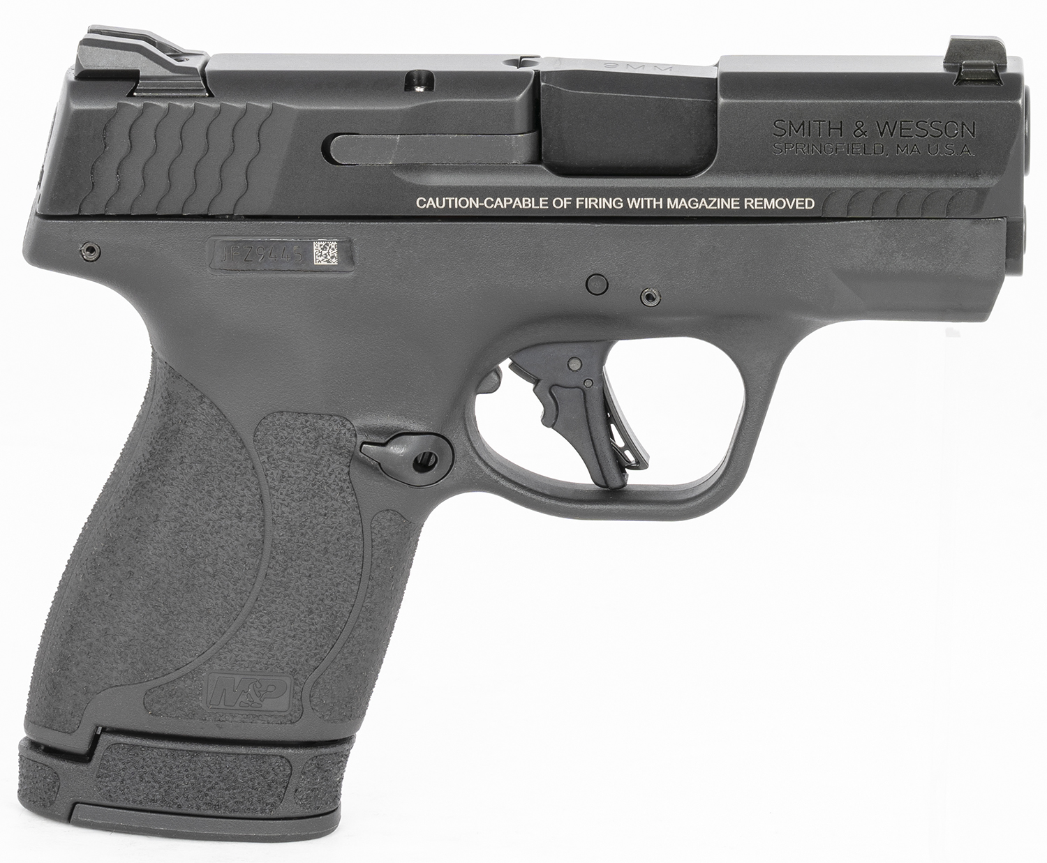 S&W M&P9 SHIELD + 9MM W/SAFETY 2-10 RD MAGS 10LB TRIGGER 3.1