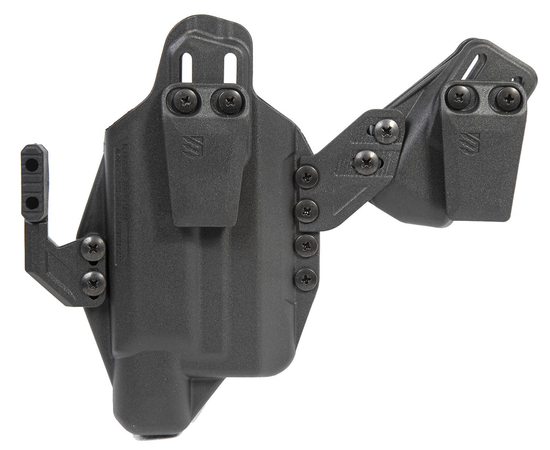Blackhawk 416702BK Stache Inside-The-Waistband 02 Black Polymer IWB Fits Glock 19 SL Ambidextrous Hand