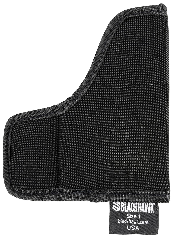 Blackhawk 40TP01BK TecGrip Pocket 01 Black Laminate Pocket Ambidextrous Hand