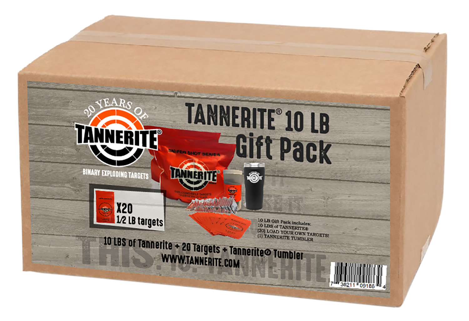 TANNERITE 10LB GIFT PACK 20 TRGTS