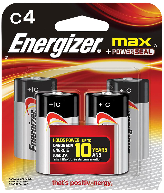 ENERGIZER MAX BATTERRIES C 4-PACK