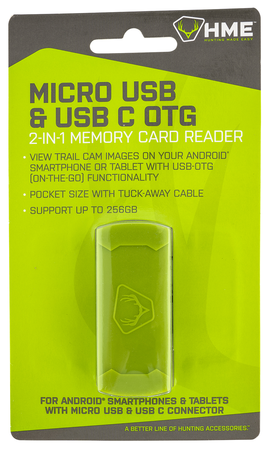 HME HME-SDCRAND Memory Card Reader Android Up To 256GB Black/Green