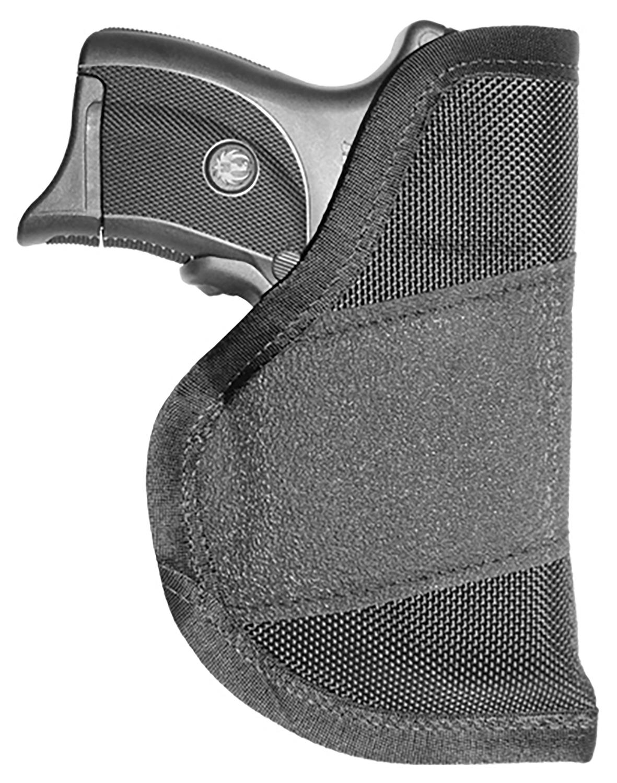 Crossfire Shooting Gear CRF-GRPLSRSA1C-3 The Grip Laser Holster 03 Black Rubber Grip Fabric/ 1680 Denier Ballistic Nylon IWB/Pocket 3-3.5