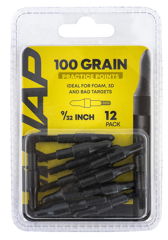 NAP NAP-60-P3DP-932 3D Practice Points Field Tips Fixed 100 grain Black