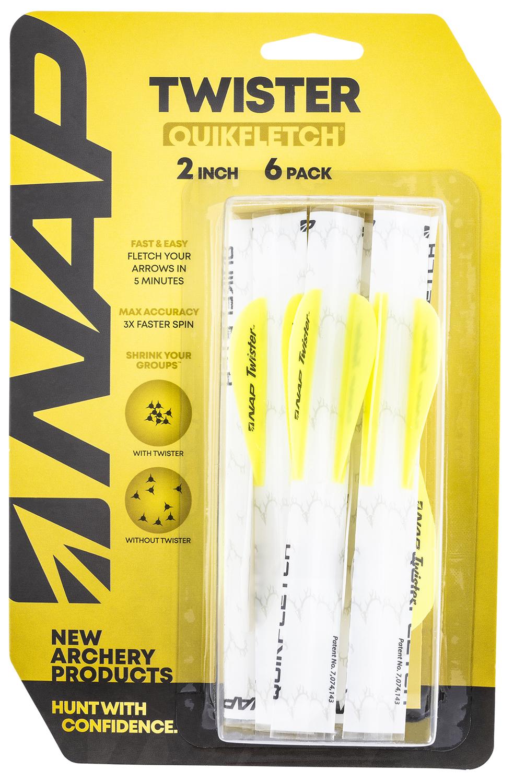 NAP NAP-60-636 Quickfletch Twister Fletching White/Yellow/Yellow