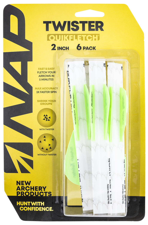 NAP NAP-60-638 Quickfletch Twister Fletching White/Green/Green