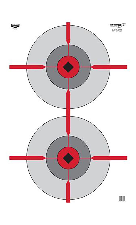 Birchwood Casey 37031 EZE-Scorer Double Bulls-Eye Bullseye Paper Target 23