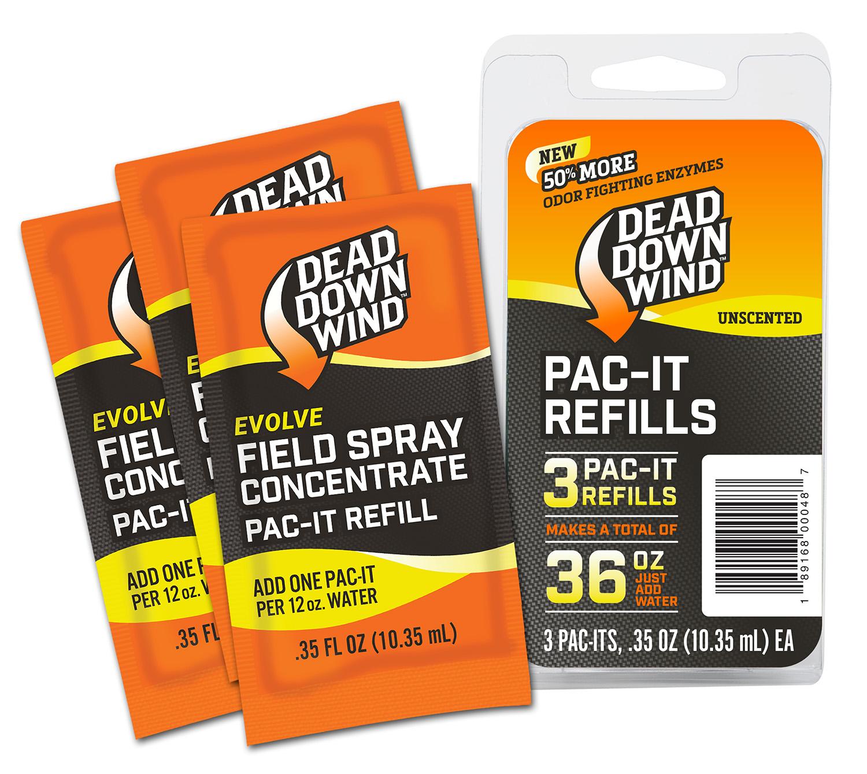 Dead Down Wind 3D+ Pac-It Field Spray  <br>  Refills 3 pk.