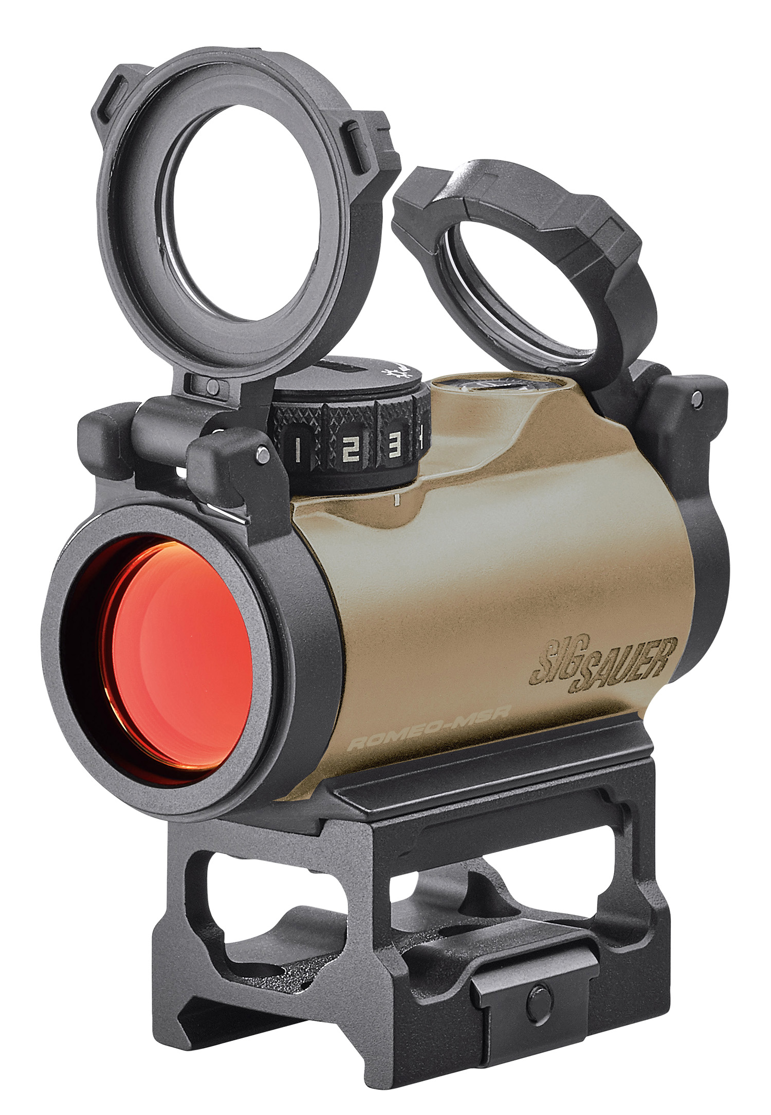 Sig Sauer Electro-Optics SOR72011 Romeo-MSR  Handgun MSR/Carbine/Shotgun/Air Rifle 1x20mm 2 MOA Red Dot Flat Dark Earth