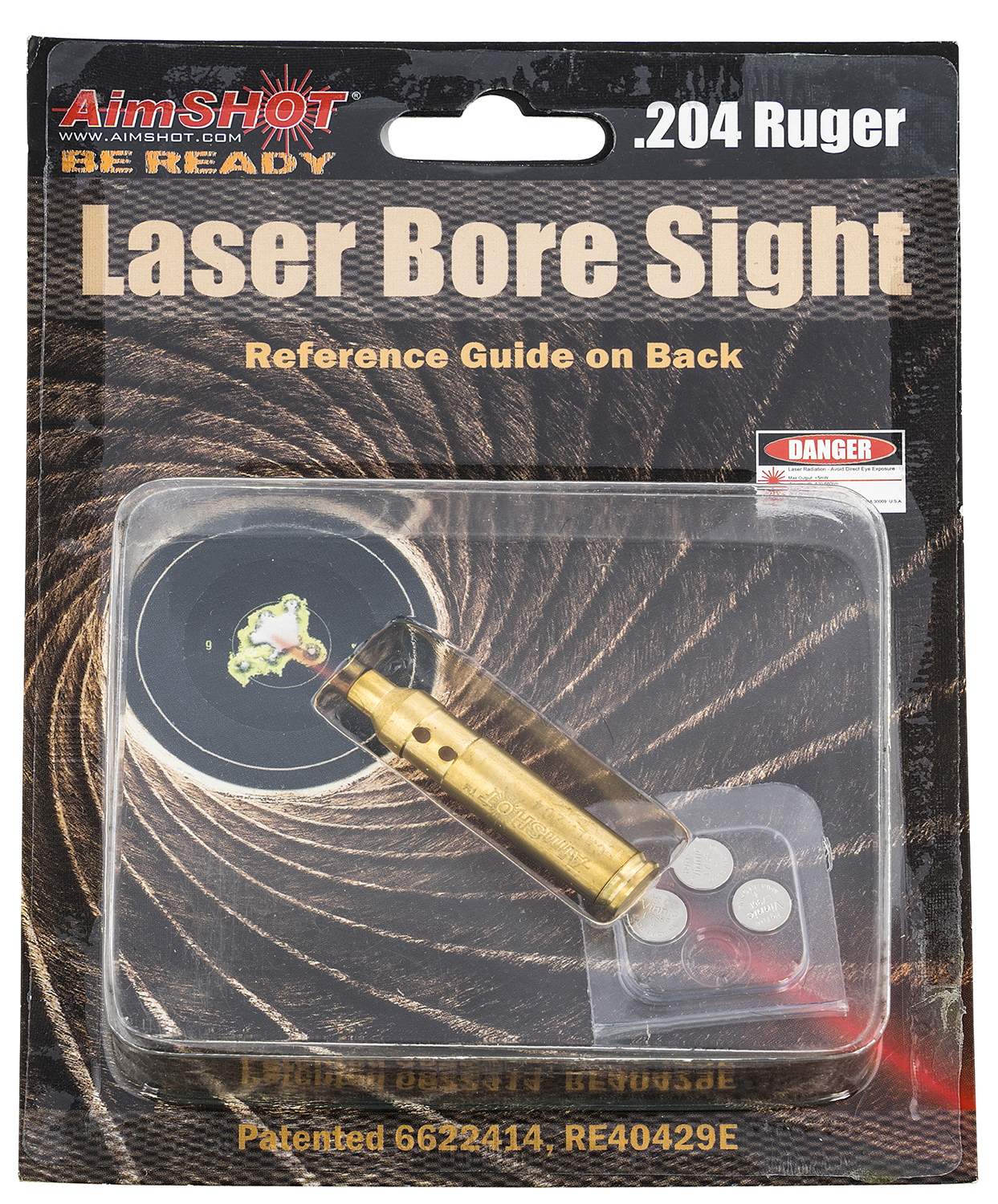 AIMSHOT BORE SIGHT .204 RUGER RED