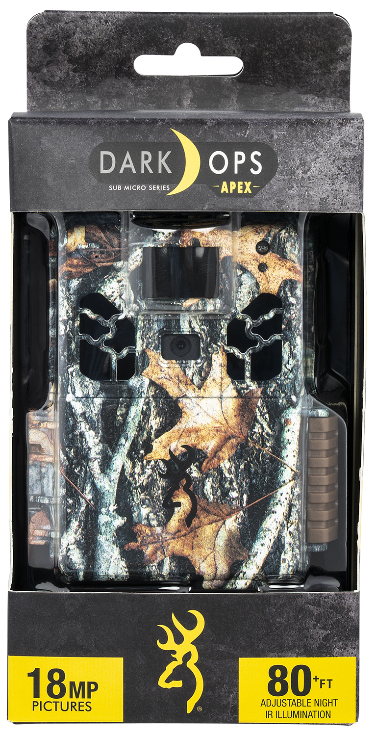Browning Trail Cameras 6HD-APX Dark Ops HD Apex Advantage Camo 18 MP Resolution Invisible Infrared Flash SDXC Card Slot/Up to 512GB Memory