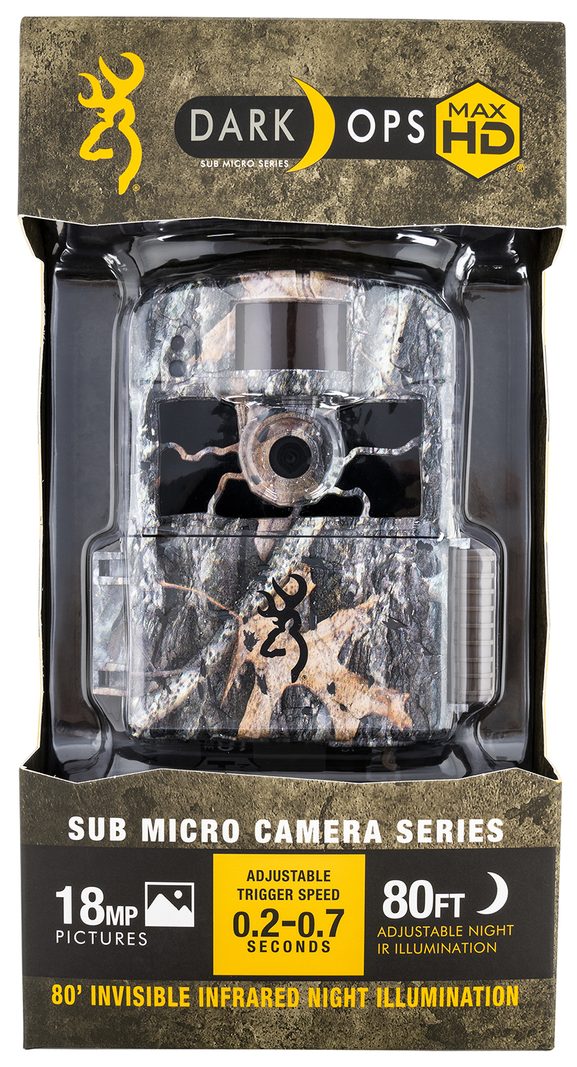 Browning Trail Cameras 6HD-MAX Dark Ops HD Apex Advantage Max-4 18 MP Resolution Invisible Flash Invisible Infrared Flash SDXC Card Slot/Up to 512GB Memory