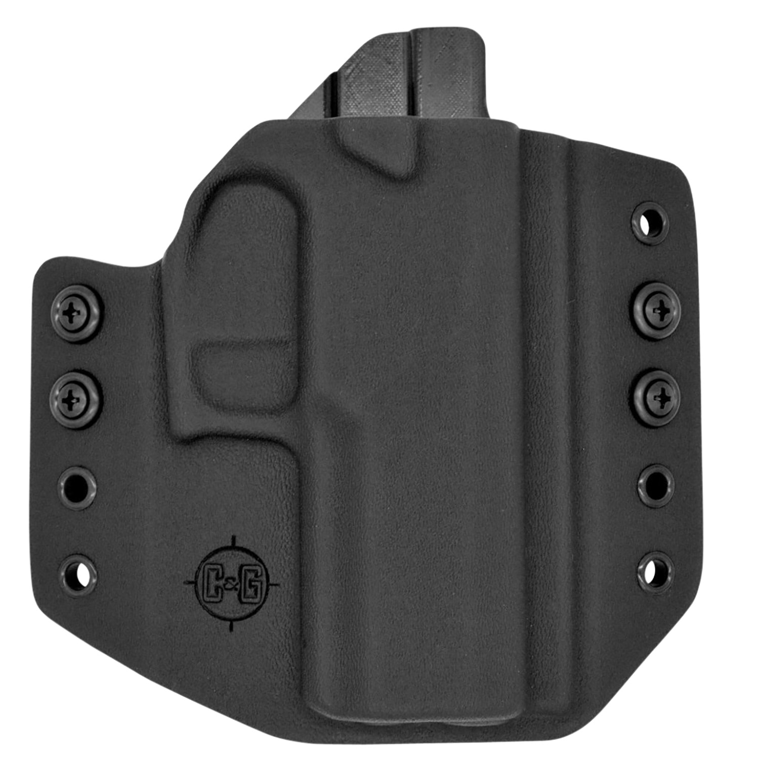 C&G Holsters  Covert Sig P320C Compact Black Kydex OWB Sig P320C Right Hand