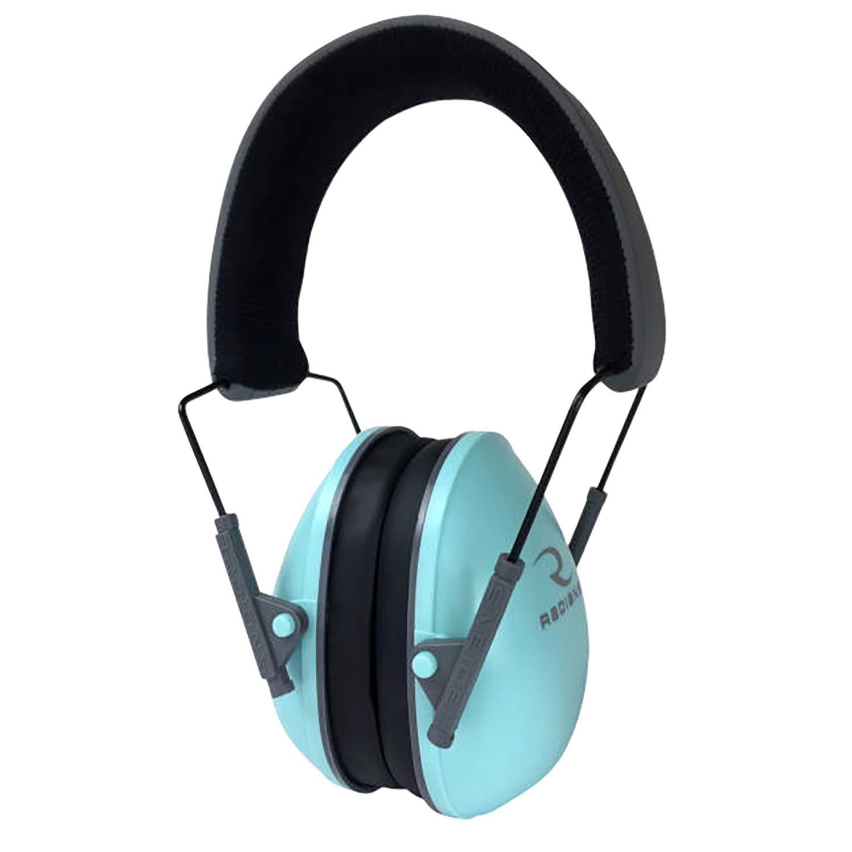 Radians LS0820CS Lowset Passive Muff 21 dB Over the Head Aqua Blue Ear Cups with Black Headband for Women 1 Pair