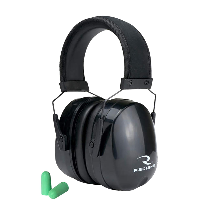 Radians MX0100CS Maximus Earmuff 38 dB Over the Head Black Ear Cups with Black Headband Adult