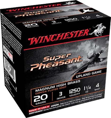Winchester Ammo X203PH4 Super Pheasant Plated HV 20 Gauge 3
