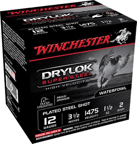Winchester Ammo SSH12LH2 Drylock Super Steel 12 Gauge 3.5