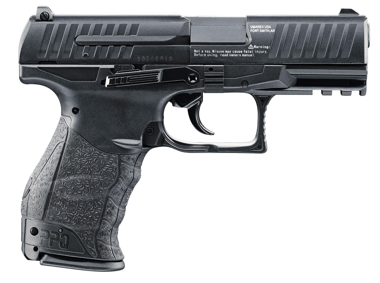 Umarex USA 2256010 Walther PPQ Air Pistol Single .177 Pellet/BB Black