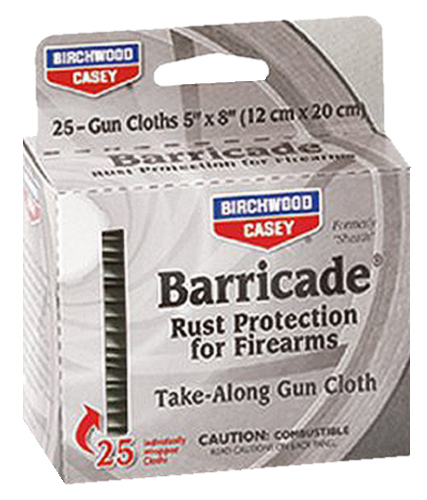 Birchwood Casey 33025 Barricade Take Along Wipes Barricade Take Along Wipes 25 pk