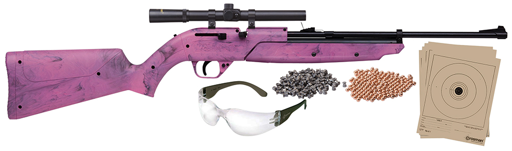 Crosman 760PKT Pumpmaster Air Rifle Kit Bolt .177 Pellet/BB Pink/Black
