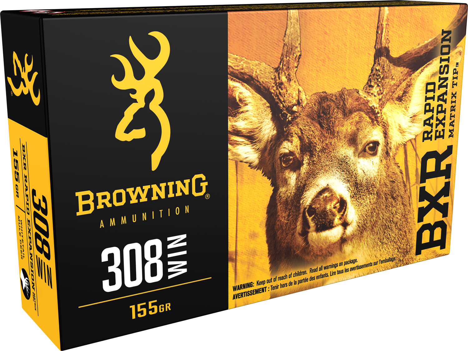 Browning Ammo B192203081 BXC Controlled Expansion 308 Win/7.62 NATO 168 GR Terminal Tip 20 Bx/ 10 Cs