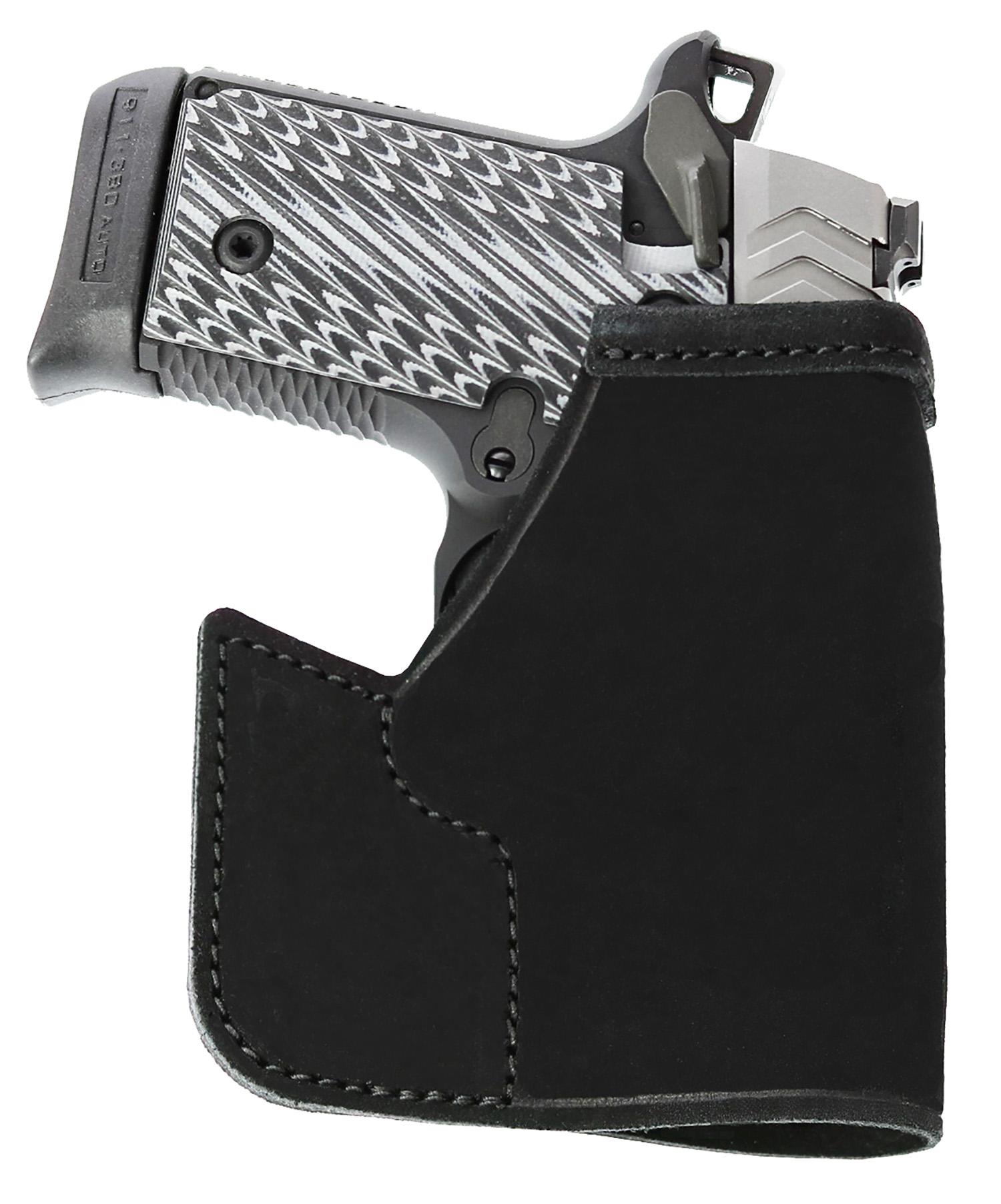 Galco PRO664B Pocket Protector Inside the Pocket  Sig P938 Steerhide Center Cut Black