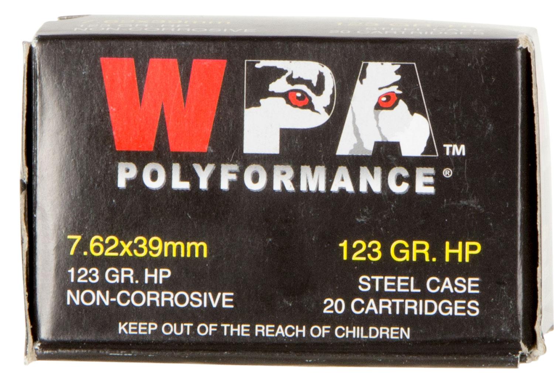 Wolf 762BHP Performance Rifle  7.62 x 39mm 123 GR Hollow Point 20 Bx