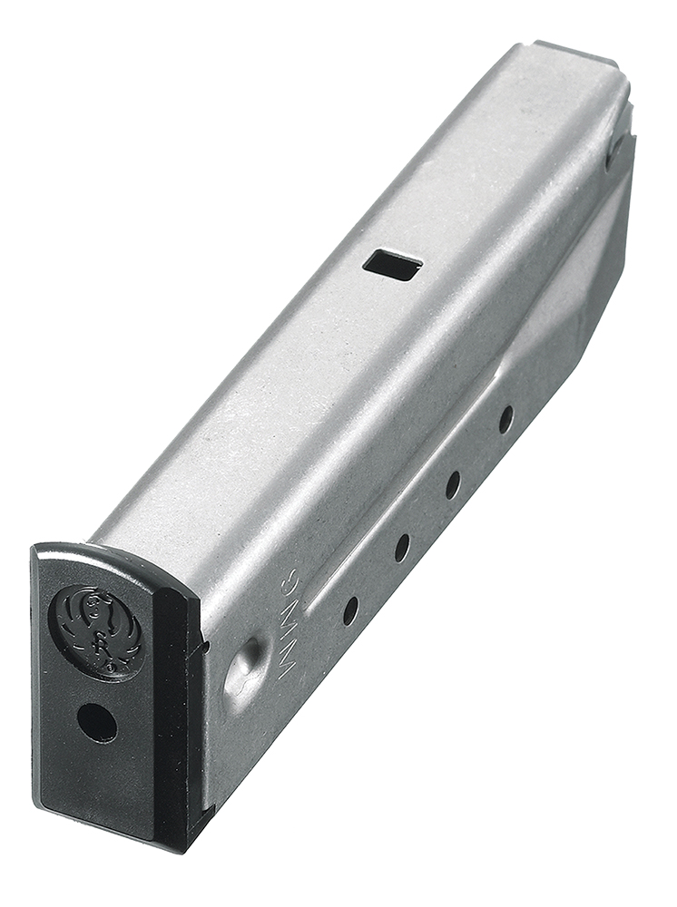 Ruger 90233 P-Series 9mm Luger 15 rd P85/89/93/94/95/PC9  Stainless Steel Stainless Finish