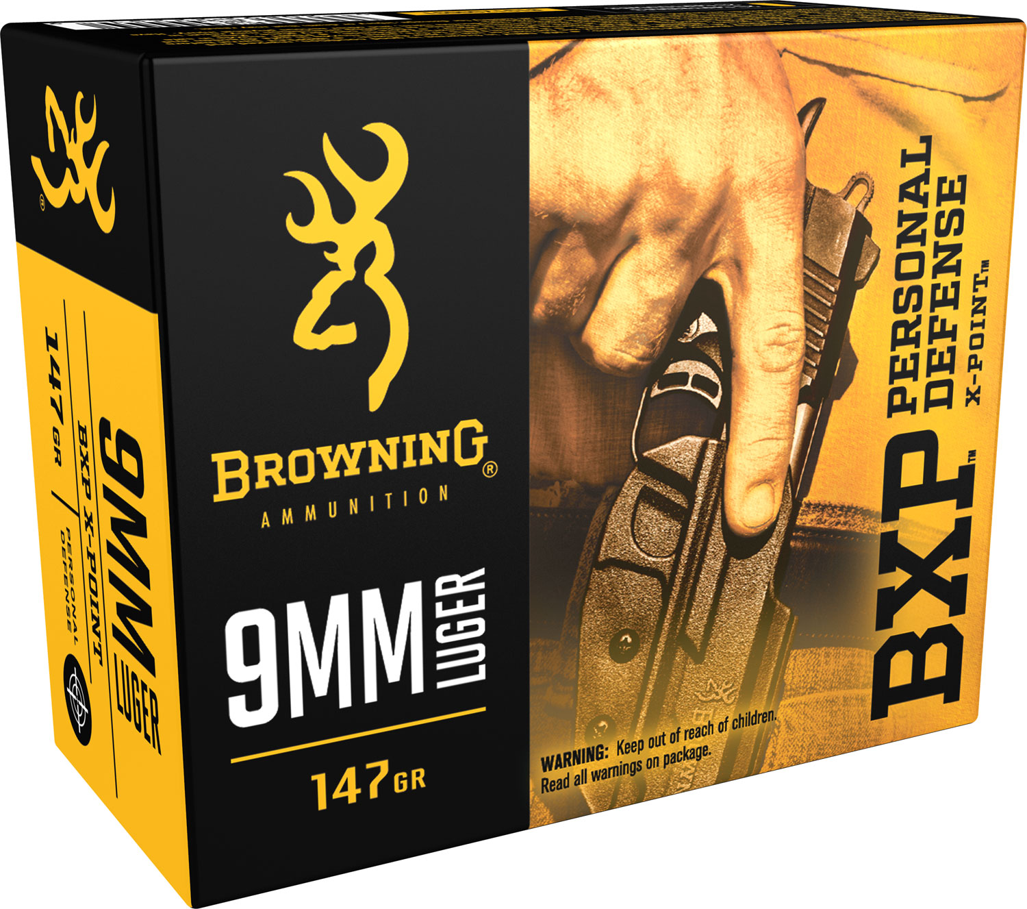 Browning Ammo B191700091 BPX X-Point 9mm Luger 147 GR HP 20 Bx/ 10 Cs