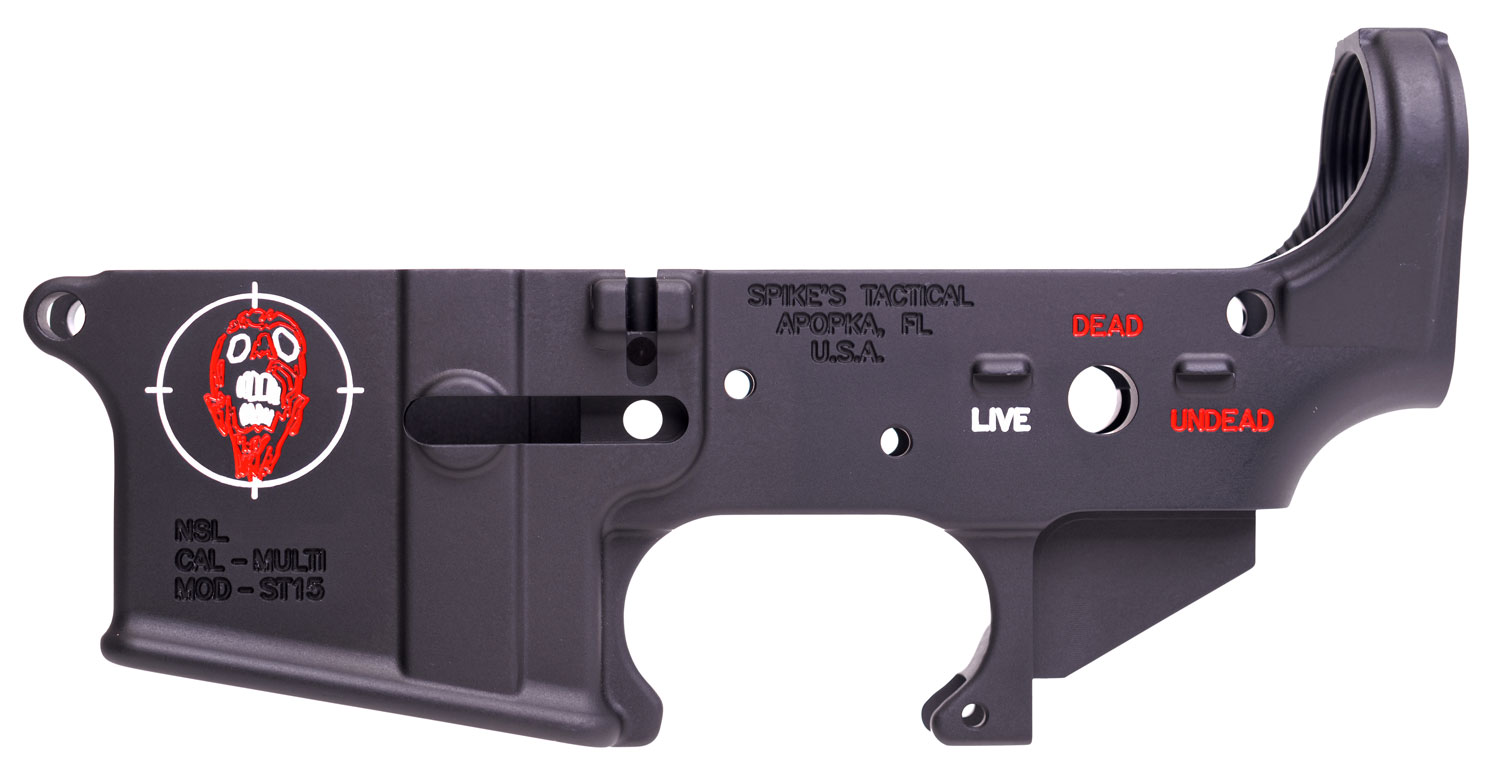 Spikes STLS011-CFA Lower Forged Zombie Multi-Caliber AR Platform Black